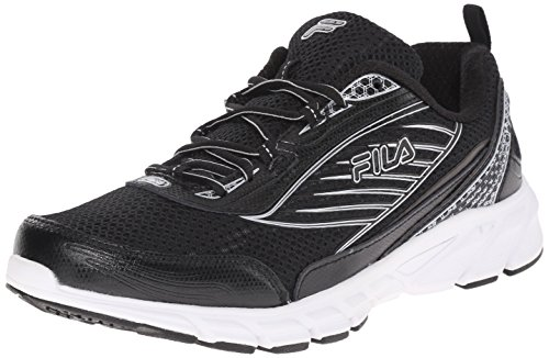 Fila Men's Forward 2-m Running Shoe, Black/Metallic Silver, 11.5 M US