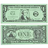 LEARNING ADVANTAGE-7514 One Dollar Play Bills - In Home Learning Toy for Counting and Currency Lessons - Set of 100 $1 Paper Bills - Play Money Designed and Sized Like Real US Currency