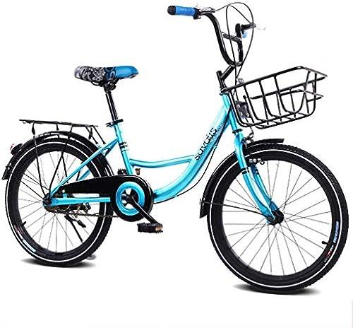 SHX ETWL Bikes Kinderfürrad für Jungen und mädchen, Verstellbarer Lenker und Sitz für 58 Jahre alt (16 Zoll)