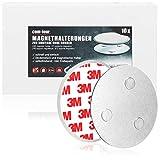 com-four® Set de 10 Soportes magnéticos para detectores de Seguridad - Soporte con Almohadillas Adhesivas para detectores de Humo - Ø 7 cm (10 Piezas - Soporte magnético)