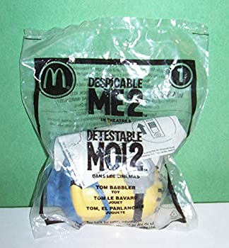 Despicable Me 2#1 McDonald s Happy Meal Toy Minion - Tom Babbler [Hard-to-Find Collectible Toy]  Number 1