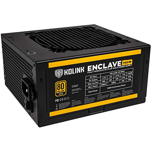 Fuente de alimentación Kolink Enclave 80 Plus Gold 700 W