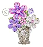 Ganz Crystal Expressions 5' Flower Daisy Posy Pot Place Card Holder ACRY-578...