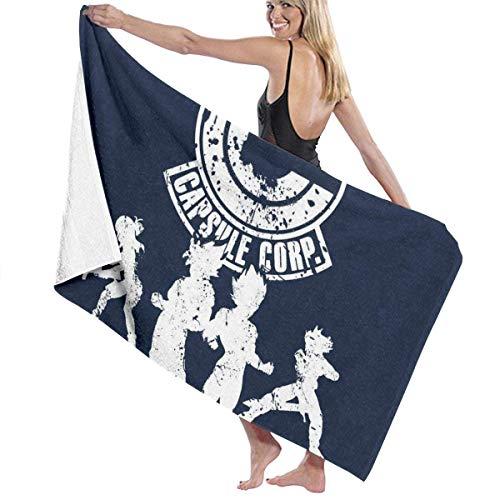 FSTGF Power Capsule Corp Dragon Ball Z Toalla de playa de algodón absorbente toallas de baño de microfibra toalla de secado rápido manta para mujeres, niños