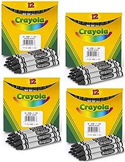 Crayola Bulk Crayons (12 Count), Black (4 Pack)