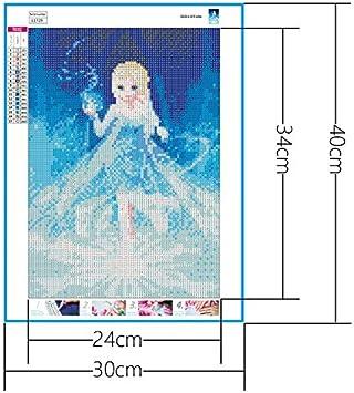 Kit De Peinture De Diamantbricolage 5D Plein Forage Enfant Arbre Arbre Broderie Point De Croix Bricolage Art Craft Home D/écor Mural Outil De Peinture De Diamant Inclus 30x40 cm