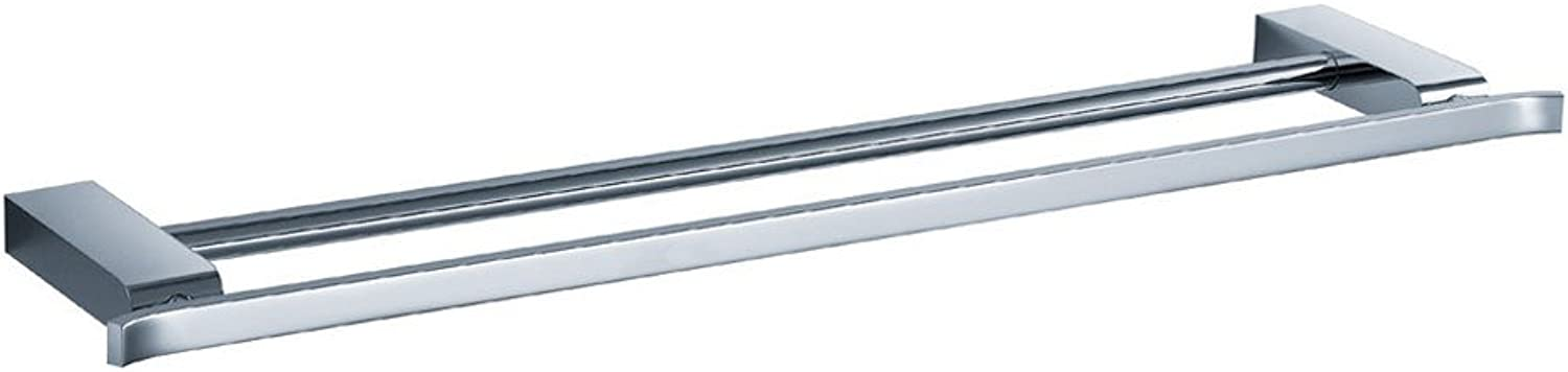 Fluid Faucets FA14040 Emperor Wall-Mounted Double Towel Bar, Chrome, 1-Pack