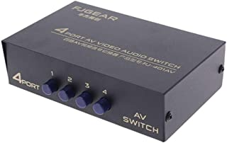 4 Port AV Audio Video RCA 4 Input 1 Output Switcher Switch Selector Splitter Box Electronic Car Accessories