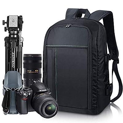 Estarer Waterproof DSLR Camera Laptop Backpack with Rain Cover,Tripod Holder,Large Professional SLR Photo Rucksack for Dji Mavic Pro,Canon,Nikon,Sony,Fujifilm by Estarer