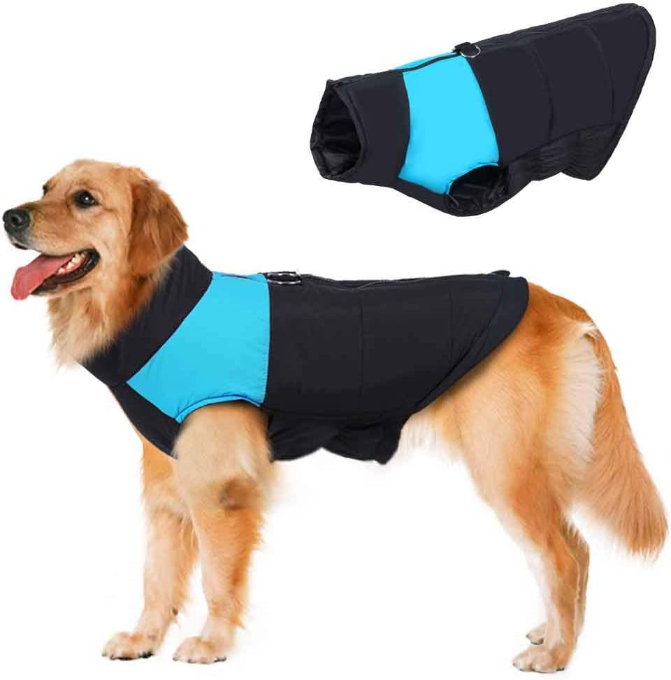 VeMee Dog Coat Vest Windproof Warm Dog Clothes Plus Size for Col