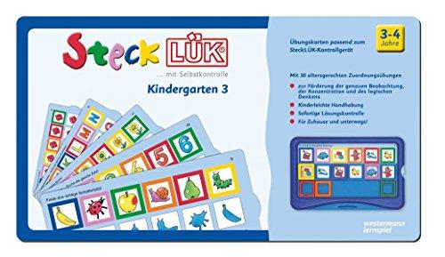 SteckLÜK: Kindergarten 3: Alter 3 - 4 (blau)