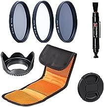52MM Filter Set: Slim UV, Slim CPL, Neutral Density ND4 Filters for Nikon D3100, D3200, D3300, D5100, D5200, D5300, D5500, D7100, D7200, D500, D600, D610, D700, D750, D800, D810 Digital SLR Camera