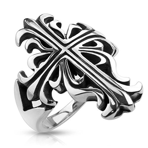 Celtic Cross Casted 316L Stainless Steel Ring