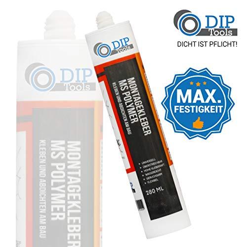 DIP-Tools Universal-Montagekleber - extra stark zum Kleben und Dichten (1x290ml, weiß)
