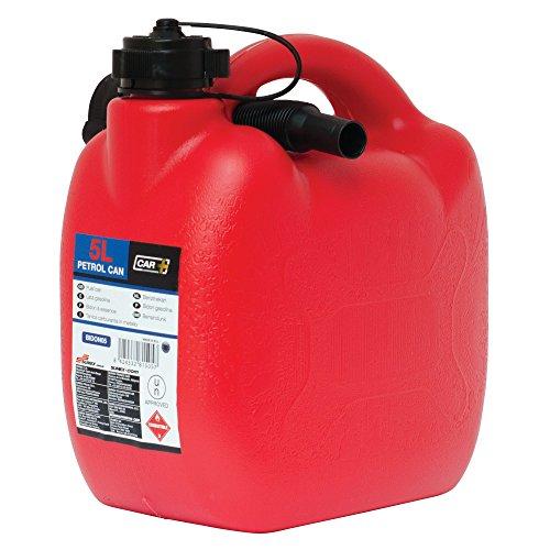 Sumex CAR+ Bidon05 - Bidón Gasolina de plástico con Tubo Flexible, 5 Litros, color Rojo