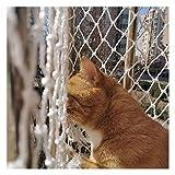 Ezoon Red de seguridad duradera para gatos para balcón, ventanas, escaleras, vallas, red de protección de mascotas, malla de nailon grueso para escalada de plantas con bridas de fijación