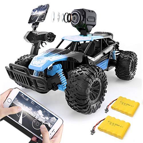 GizmoVine Ferngesteuertes Auto mit Kamera, Hohe Geschwindigkeit RC Auto im Maßstab 1:14 Schneller Renn-Monster-Buggy, Geländewagen Fahrzeugspielzeug für Kinder Erwachsene Jungen Mädchen