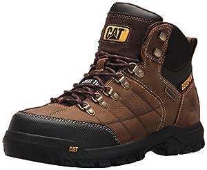Caterpillar Men's Threshold Waterproof Steel Toe Industrial Boot, Brown, 9 M US