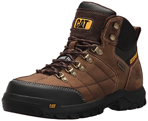 Caterpillar Men's Threshold Waterproof Steel Toe Industrial Boot, Brown, 10 M US