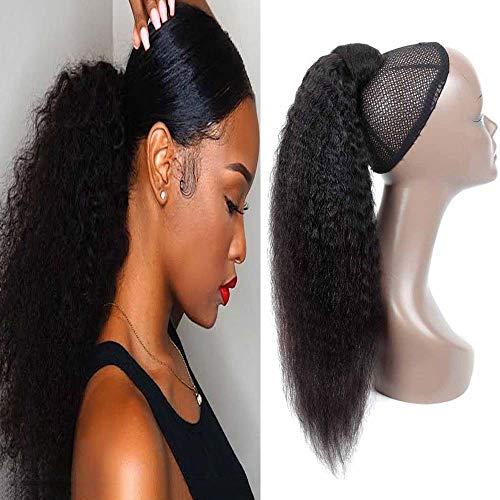 Seelaak Kinky Straight Wrap Around Ponytail Hair Piece