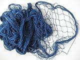 osters muschel-sammler-shop Deko Fischernetz Blau 200x400cm Baumwolle 2. Wahl mit Farbfehlern
