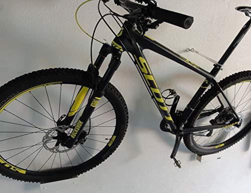 Clipboart® Wandhalterung Halterung Wandmontage Schrägmontage von MTB Rennräder Fixies Fahrrad E-Bikes Enduro (Multiplex-Weiß)