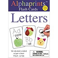 Alphaprints: Wipe Clean Flash Cards Letters (Wipe Clean Activity Flash Cards)