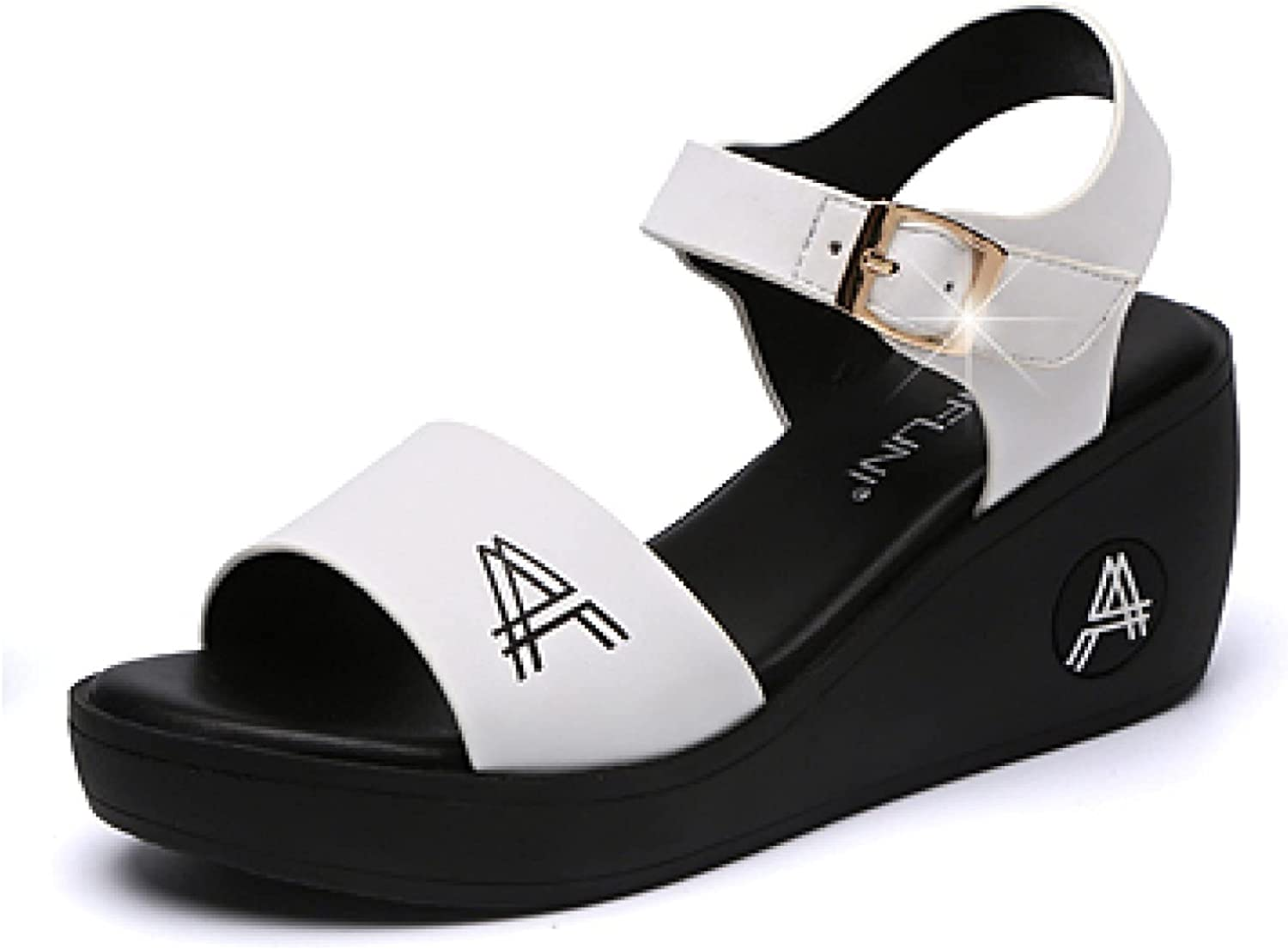 Womens low-pricing Wedges Sandal Open Toe Leather Breathable Ankle Vintage Max 62% OFF S