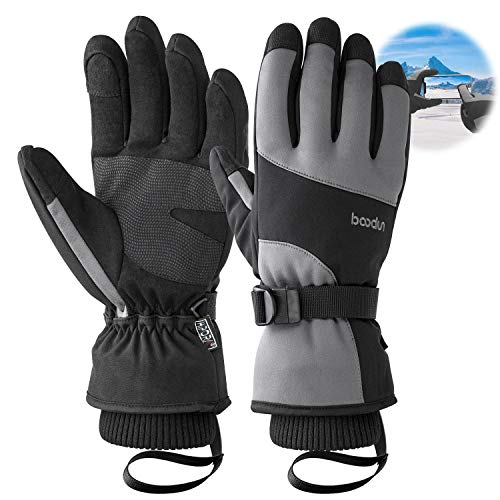 Ski gloves,Bizzliz Waterproof Winter Warm Gloves Snow Gloves Touch Screen for Outdoor Sport Men Women (S)