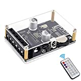 WHDTS Stereo Bluetooth Power Amplifier Board Remote Control 5V 12V 24V 20W 30W 40W Infrared Receiver Module with Case