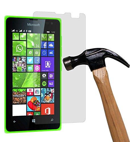 yayago Bildschirmschutzglas 0,26 mm Bildschirmschutzfolie für Microsoft Lumia 532/532 Dual Glasfolie Hartglas 9H (bewusst Kleiner als Das Bildschirm, da Dieses gewölbt ist)