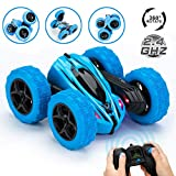jytoyz rc stunt car, kids toys remote control racing car 4wd double sided 360° spins and flips with