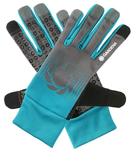 GARDENA Garten-/ Pflegehandschuh 9/L: Atmungsaktive Handschuhe für die anspruchsvolle Gartenarbeit, zum einpflanzen/umtopfen bestens geeignet, mobile touch zur Verwendung des Smartphones (11502-20)