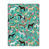 Horses Floral Horse Breeds Baby Double Blanket, Ultra Soft Warm Plush Nursery Receiving Blankets for Toddler Infant Newborns
