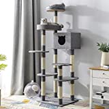 PURLOVE <span class='highlight'>Cat</span> <span class='highlight'>Tree</span>, 180cm <span class='highlight'>Cat</span> Tower Activity Centre with Sisal Scratching Posts / Condo / Dangling Toy / Viewing Platform, Large <span class='highlight'>Cat</span> <span class='highlight'>Tree</span> <span class='highlight'>Cat</span> Climbing Tower for Indoor <span class='highlight'>Cat</span>s