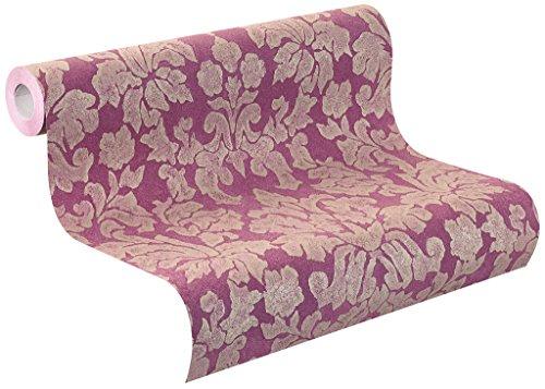 rasch Vlies-Tapete, Ornamente, klassisches Muster, pink, Gold, Belleville 441468