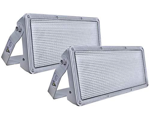 Rugging 50W LED Flutlicht 5000LM superheller LED Flutlicht LED Außenscheinwerfer 3000K LED Flutlicht IP67 wasserdichter Außenscheinwerfer für Gartengarage (2er Pack)