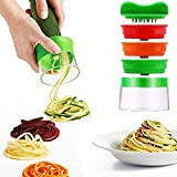 MAOJIE policía Cortador en Espiral de Mano Gadgets de Cocina de Verduras para Espaguetis Vegetales Zanahoria Pepino Fideos de Patata