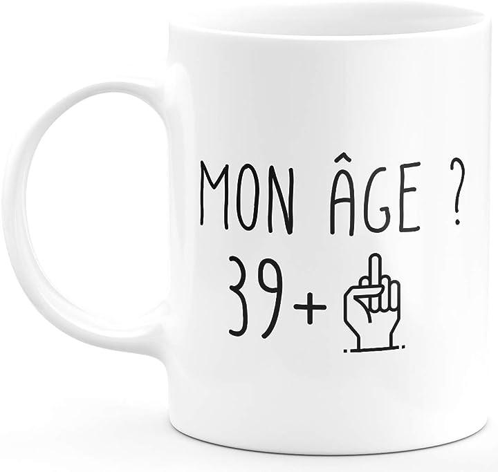 Tazza da 40 anni rigolo, idea regalo per compleanno, uomo e donna ceramike B08DJBXF6X