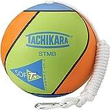Tachikara STMB Tetherball, Lime Green/Blue/Orange, 0.9
