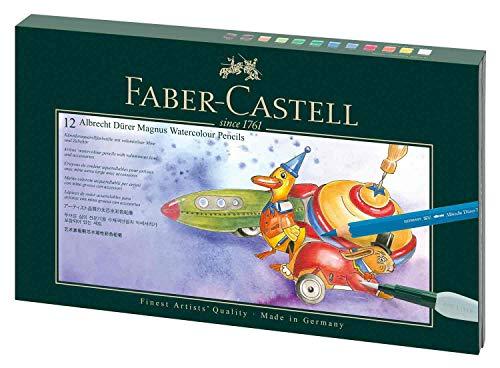 Faber-Castell Albrecht Dürer Magnus 216910 - Juego de 12 bolígrafos con accesorios, multicolor