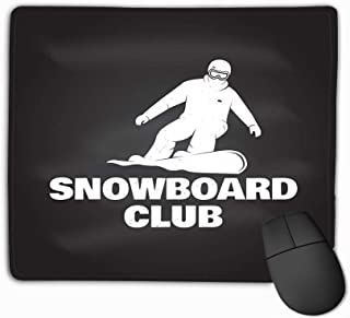 Custom Mouse Pad,11.81 X 9.84 Inch Unique Printed Mouse Mat Design Snowboard Club conceplogo Print Stamp Snowboard Club Concept