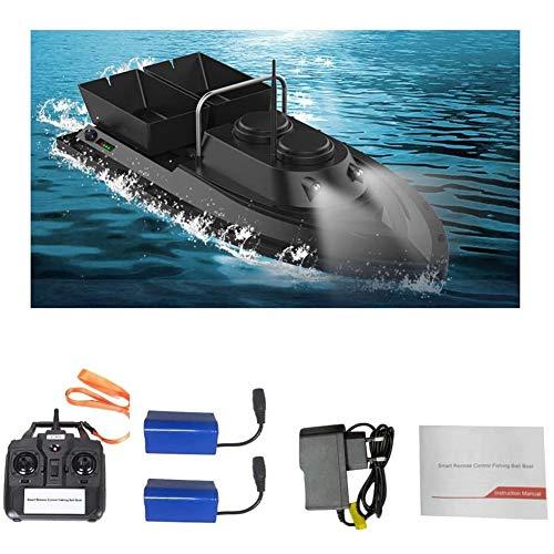 Fischfinder Futterboot Baitboat, Für Angeln RC Boot Fishing Bait Boat 2,4 G,High Speed 500M Ferngesteuertes Boot,Hoch Wasserdicht Köderboot Mit Geräuschloser Doppelmotor,Schwarz