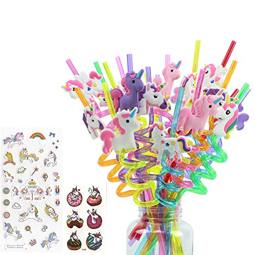 24 Value Pack of Fun Unicorn Straws