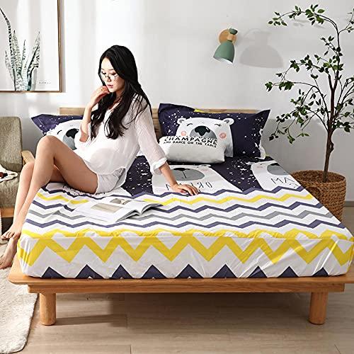 CYYyang colchón Acolchado, antialérgico antiácaros, Sábana Impermeable de un Solo Producto hotel-20_200cm × 220cm