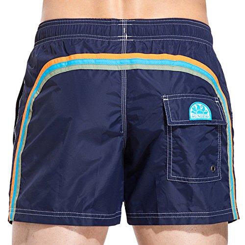 SUNDEK Klassische Herren-Badeshorts mit elastischer Taille, 35,6 cm - Blau - Small