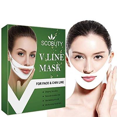 V Mask,V Face Mask,V Shape Mask,V lifting Mask,V Line Mask Chin Up Patch Double Chin Reducer V Shaped Neck Face Up Slimming Tightening Mask 5 PCS by TOULIFLY