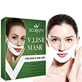 V-shaped Slimming Mask,V-shape Mask,V Line Mask,V Shaped Facial Mask,Lift and Firm, Reduce Double Chin,Moisturizing