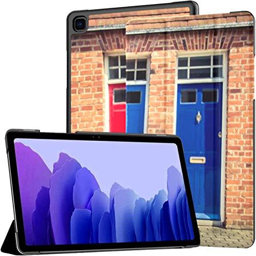 Funda para Tableta Samsung Galaxy Tab A7 de 10,4 Pulgadas 2020 (sm-t500 / t505 / t507), Tres Puertas Delanteras, Entrada, Soporte de ángulo múltiple, Cubierta con activación/s