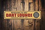NNHG Tin Sign 16x4 inches Dart Lounge Sign Game Room Sign Dart Board Sign